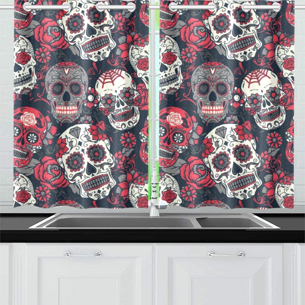 INTERESTPRINT Blackout Kitchen Window Treatments Small Dra Daily bargain sale Panel Great interest
