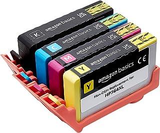Amazon Basics Lot de 4 cartouches à jet d'encre grande capacité reconditionnée de rechange pour HP 364, Noir, cyan, magent...