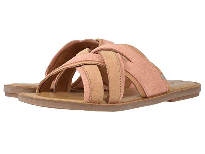 TOMS  Val (Coral Pink Suede) Womens Sandals