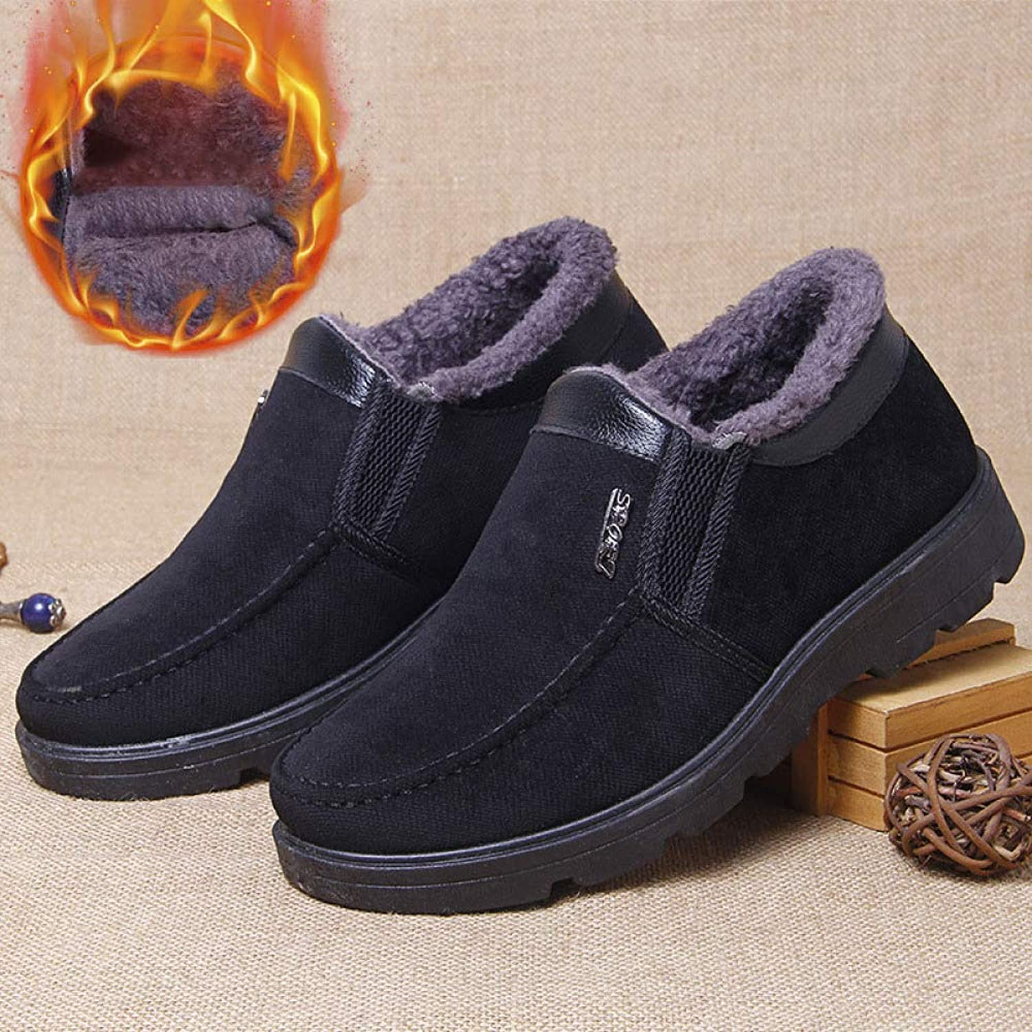 shoes 2018 Winter Old Beijing Non-Slip Wear-Resistant Men's Cotton, Plus Velvet Thick Warm Middle-Aged Father, Warm Winter and Velvet to Increase Cotton