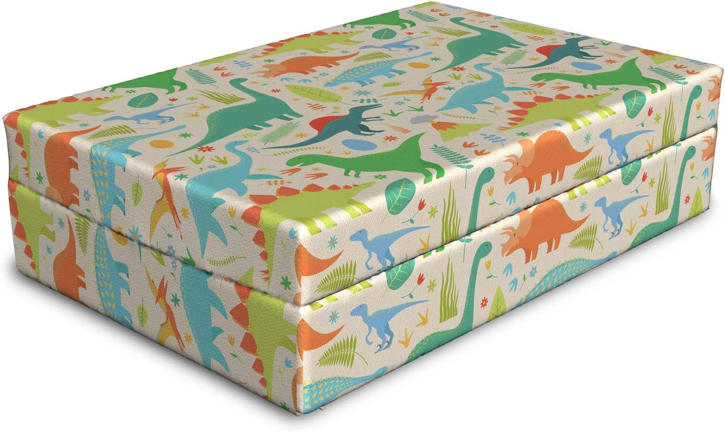 Max 45% 55% OFF OFF Ambesonne Dino Dog Bed Mammal and Leaves Animals Volcano Colorf