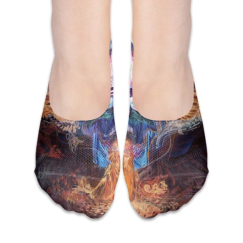 摂氏度構成量女性の抽象的なシュガースカルローカットコットンボート隠し目に見えない靴下