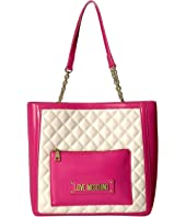LOVE Moschino - Shinny Quilted Tote