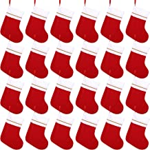 Cooraby 24 Pack Red Felt Christmas Stockings 15 Inches Xmas Fireplace Hanging Stockings Holiday Decorations Stockings for ...
