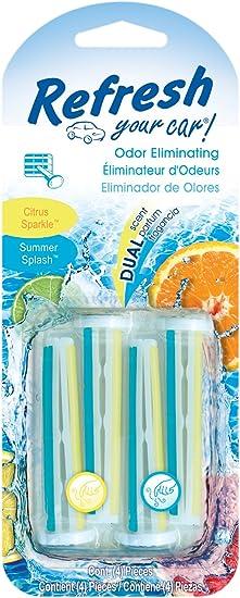 Refresh Your Car Auto Vent Sticks Citrus Sparkle Summer Splash 4 Stück Auto