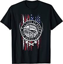 I Love It When She Bends Over American Flag Angler T-Shirt