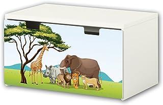 comprar comparacion Africa pegatinas | pegatinas para muebles | BT24 | adecuado para el arcón de banco STUVA von IKEA para niños (90 x 50 cm) ...