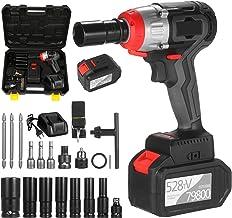 Kecheer Atornillador de impacto bateria con luces LED,Destornillador electrico taladro,Atornilladores a bateria