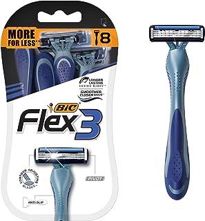 BIC Flex 3 Disposable Men's Razors - Pack of 8 Razors