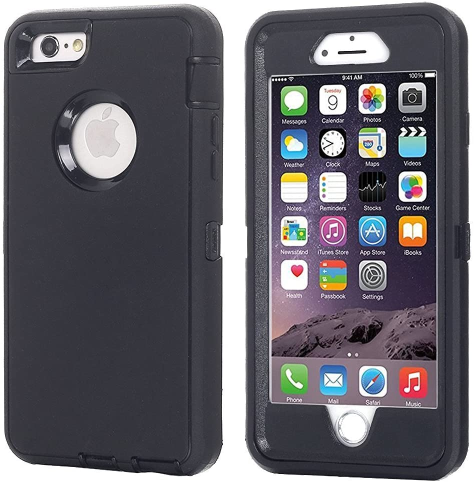 iPhone 8 Plus/7 Plus Case, AICase [Heavy Duty] [Full Body] Daul Layer Armor Shockproof Water-Proof Case with Built in Screen Protector for Apple iPhone 8 Plus/7 Plus (Black +Belt Clip)