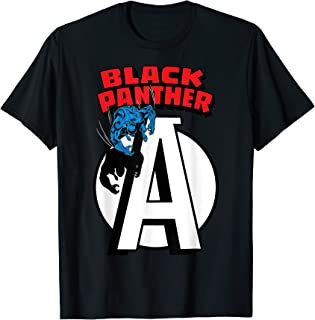 Marvel Avengers Black Panther Chest Logo T-Shirt