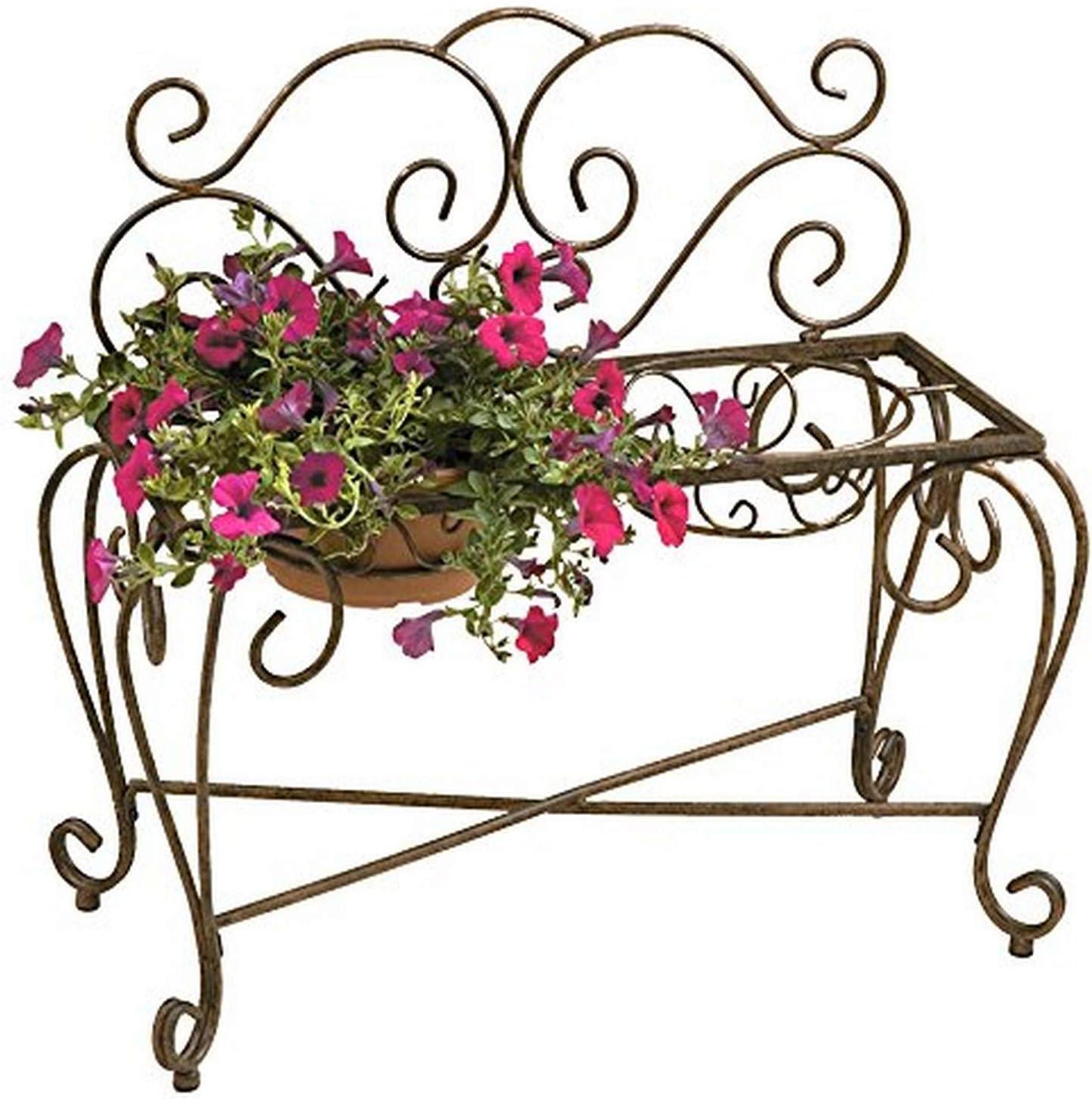 Deer Online limited product Park Ironworks BE203 Genuine 2 Pot Planter 3 Natural Patina Bench