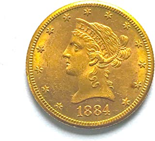 1884 S Liberty Head Gold Eagle $10 About Uncirculated AU