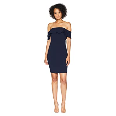 Calvin Klein Off the Shoulder Sheath Dress CD8B13RC (Indigo) Women