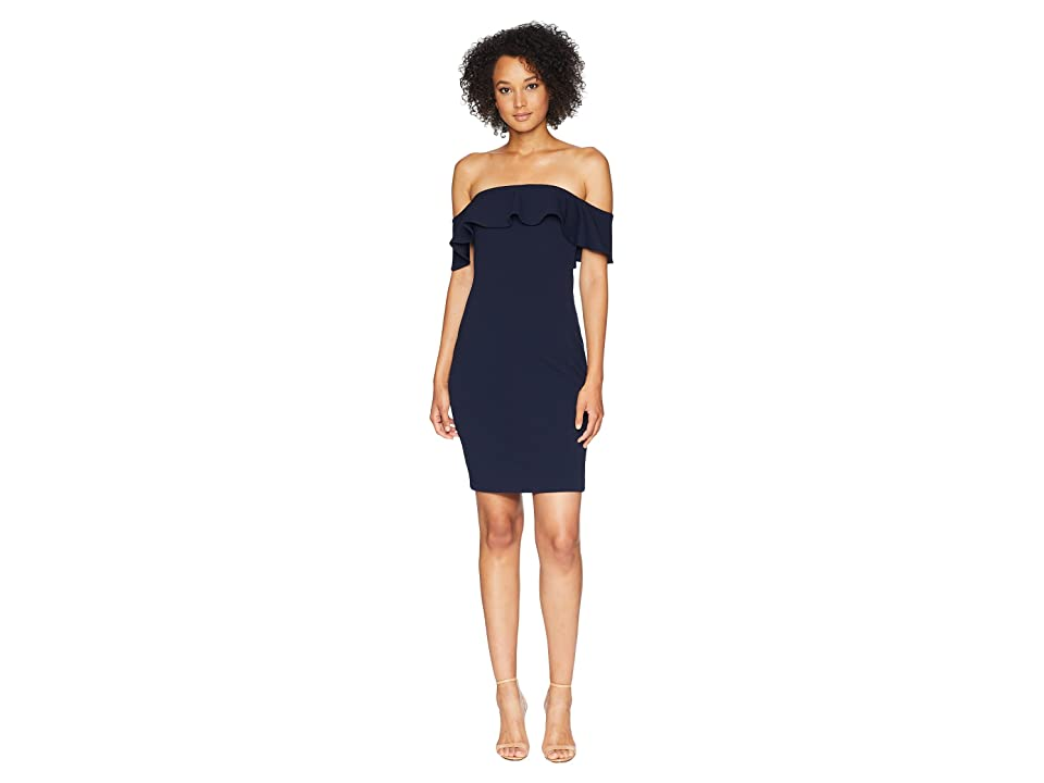 Calvin Klein Off the Shoulder Sheath Dress CD8B13RC (Indigo) Women