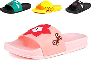 Anrenity Boys Girls Cute Casual Slide Sandals Summer Beach Pool Indoor Bath Slippers(Toddler/Little Kid)