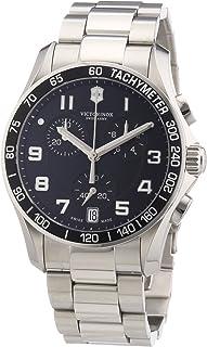 Victorinox - Swiss Army - Reloj analógico de Cuarzo para Hombre con Correa de Acero Inoxidable, Color Plateado