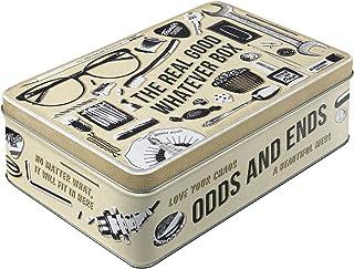 Nostalgic-Art Retro Vorratsdose Flach Whatever Odds & Ends Box – Nostalgie Geschenk-Idee, Blech-Dose mit Deckel, Vintage-Design, 2,5 l