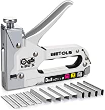 WETOLS Staple Gun, Heavy Duty Staple Gun, 3 in 1 Manual Nail Gun with 2400 Staples(D, U..