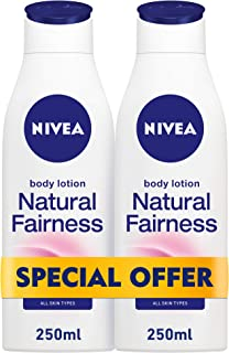 NIVEA, Body Care, Body Lotion, Natural Fairness, Dry Skin, 2 x 250ml