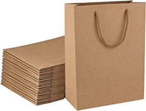 Sdootjewelry Kraft Paper Gift Bags with Handles, 36 Pcs Heavy Duty Paper Shopping Tote Bag, 9.8 x 4.3 x 13