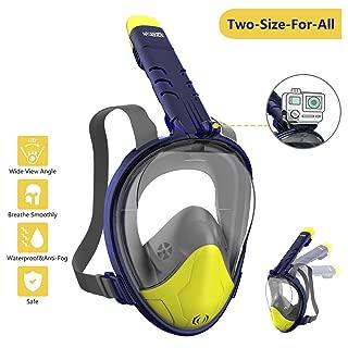 Wotek Mascara Buceo Mascara Snorkel 180° Panorámica Gafas