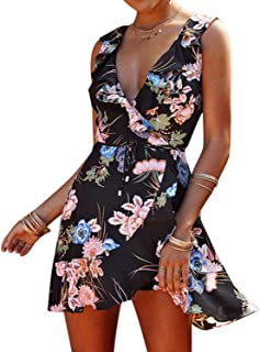 Brave Rosemary Summer Dress Chic Cute Hippie V Neck Boho Beach Sexy Dress Women Lace Up Mini Dress