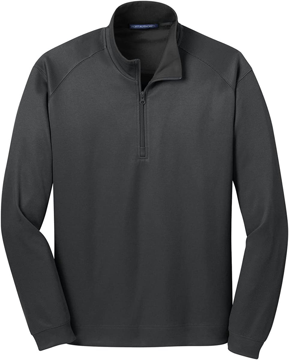 Port Authority Men's Poly/Cotton 1/4-Zip Pullover Jacket, 3XL, Grey