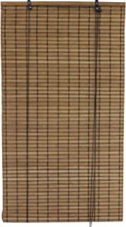 Seta Direct, Brown Bamboo Slat Roll Up Blind - 84-Inch Wide by 72-Inch Long