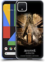 Official Assassin's Creed Gold Shilling Necklace Syndicate Logo Art Soft Gel Case Compatible for Google Pixel 4 XL