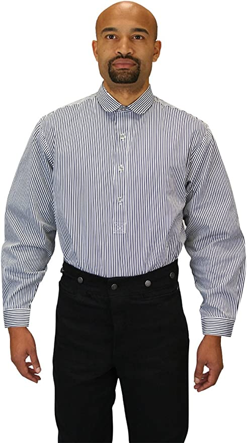 1920s Men's Shirts and Collars History Historical Emporium Mens Edwardian Round Club Collar Dress Shirt $66.95 AT vintagedancer.com