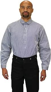 Men's Edwardian Round Club Collar Dress Shirt