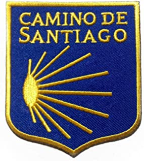Camino De Santiago Patch (3 Inch) Embroidered Iron/Sew on Badge Way of St James Scallop Shell Pilgrim Walk Souvenir