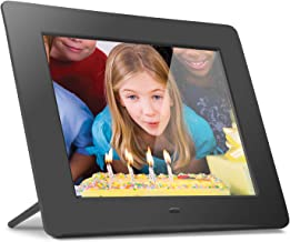 """Aluratek (ADMPF108F) 8"""" Hi-Res Digital Photo Frame with 4GB Built-In Memory (800 x 600 Resolution), Photo/Music/Video Support"""