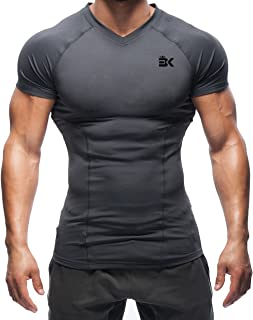 EK BROKIG Men's Gym Muscle Compression Shirts Training Workout Tops