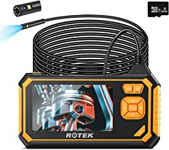 Industrial Endoscope,ROTEK 4.3inch 1080P HD LCD Screen Dual Lens Borescope,Rechargeable..