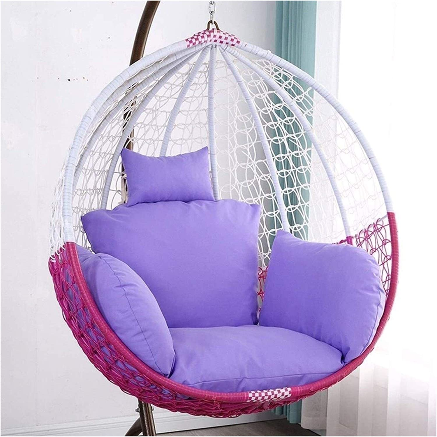 ZHANGYN Hanging Basket Egg Chair Cu Super Inventory cleanup selling sale sale period limited Cushions Swing
