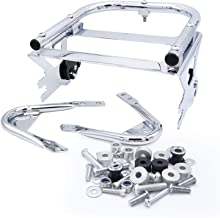 Dasen Chrome Two Up Tour Pack Pak Mounting Luggage Rack Quick-Deatach & Docking Hardware Kit For Harley Touring Road King Street Road Electra Glide 1997-2008