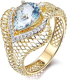 LILICATღ Bague Simple Personnalisable pour Homme Femme Alliance Anneau Poli en Acier//Plaqu/é Or 18 Carats//Ionplating Blue Wedding Ring pour Couple Amoureux,Bague Femme//Homme Carbure de tungst/ène en Or