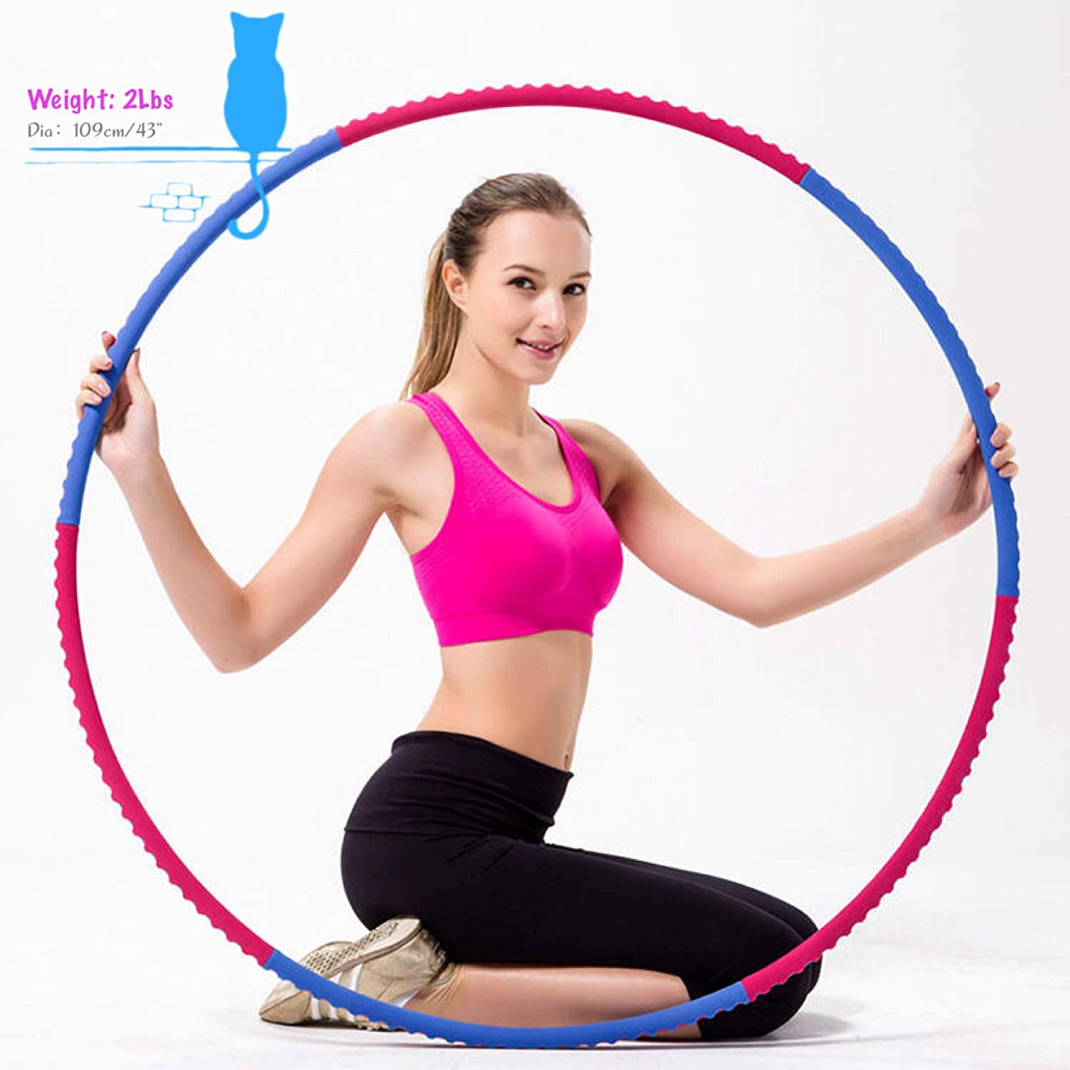 SMALAZAR Professional Lightweight Metal Foamed Hula Hoop Perfect for Dancing Fitness Exercise  Workouts for Adults and Kids  Simply The Funnest Way to Lose Weight (23lbs)