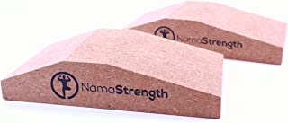 NamaStrength Yoga Cork Wrist Wedge - Yoga Wrist Support and Calf Raise Block (Set of 2)