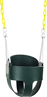 Squirrel Products High Back Full Bucket Toddler Swing Seat with Plastic Coated Chains..