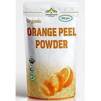 Wishingbell Natural Organic Orange Peel Powder For Face Skin Whitening 200 Grams. Citrus Aurantium Pure & Natural Face Pack (Santra Chilka Powder)