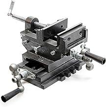 Machinebankschroef 2-assen 100 mm bankschroef voor kruistafel freestafel of werkbank