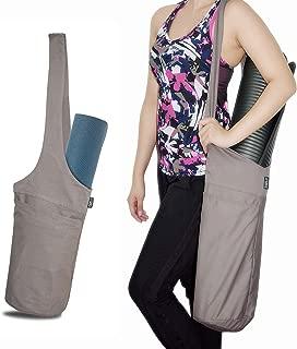 fitter's niche Yoga Mat Bag Tote Sling Carrier Shoulder Carrying Bag with Large Side Pocket & Zipper Pocket Carrier, Fits Most Size Mats, Cleaner, Blocks, Towel, Deodorant, Resistant Bands, Straps