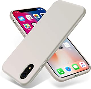OTOFLY for iPhone XR Case, [Silky and Soft Touch Series] Premium Soft Silicone Rubber Full-Body Protective Bumper Case Compatible with Apple iPhone XR 6.1 inch - White Stone