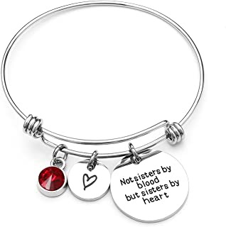 Angel's Draw Home Best Friends Bracelet- Not Sisters by Blood But Sisters by Heart Charm Bracelet- Graduation Gift,Sister ...