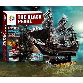 Jadpes Modelo de Barco de Papel 3D Modelo de Barco Pirata ensamblado Puzzle Barco de Juguete para ni/ños Ni/ños Puzzle de Papel Modelo de Barco Pirata Misterioso