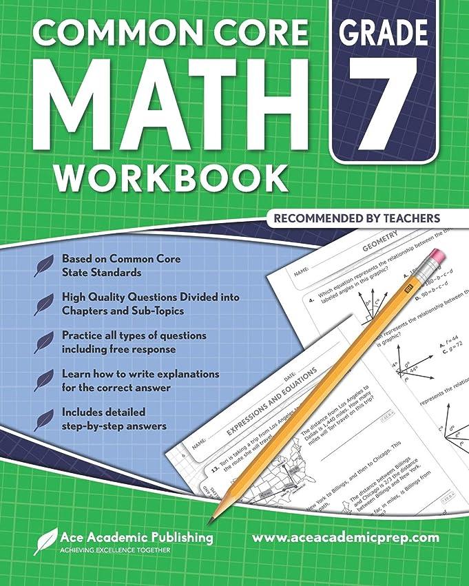 橋脚雪だるまを作るオリエンタル7th grade Math Workbook: CommonCore Math Workbook