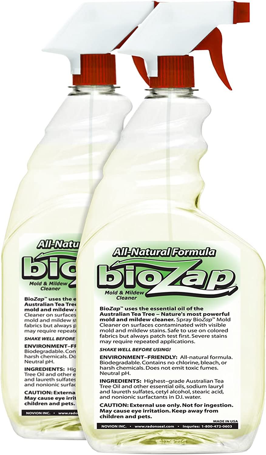BioZap All-Natural Mold Mildew Spray Manufacturer OFFicial shop 2-Pack P - The Dedication Cleaner
